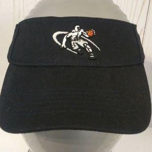 AND 1 AND1 Adjustable Brim Black Sun Visor Cap Hat